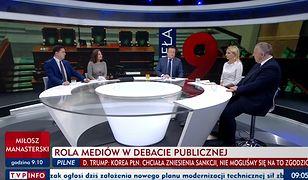 Kadr z czwartkowego programu Minęła 8 w TVP Info