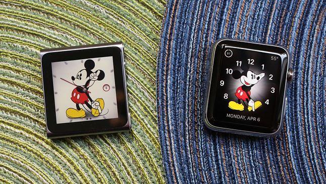 iPod nano (z lewej) i Apple Watch.