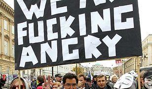 """""""Marsz Oburzonych"""" w Warszawie, 15 października 2011 roku"""