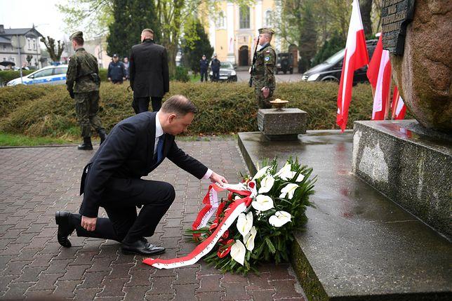 Prezydent Andrzej Duda złożył kwiaty pod Pomnikiem Powstańców Wielkopolskich