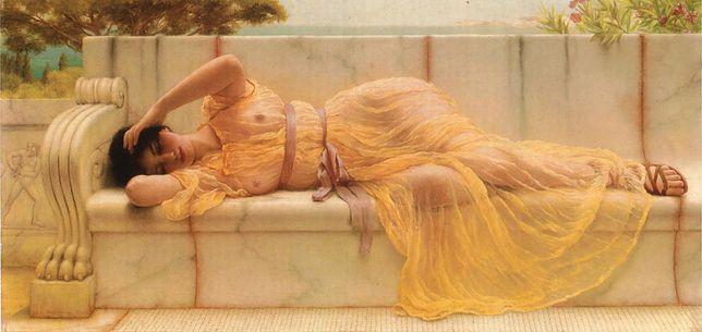 Młoda kobieta w starożytnym Rzymie, na obrazie Johna Williama Godwarda