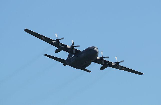 Wojskowy samolot transportowy Hercules lądował awaryjnie na lotnisku we Wrocławiu