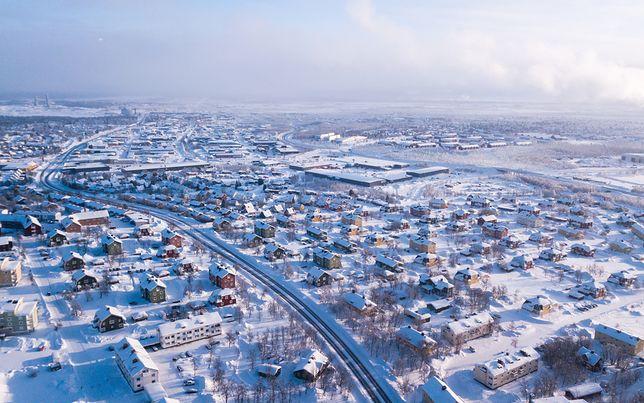 Kiruna leży w szwedzkiej Laponii, jest najbardziej na północ położonym miastem