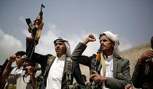Członkowie milicji Hutih w Jemenie