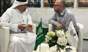 Dr Abdullah al Rabeeah podczas targów pomocy humanitarnej w Warszawie