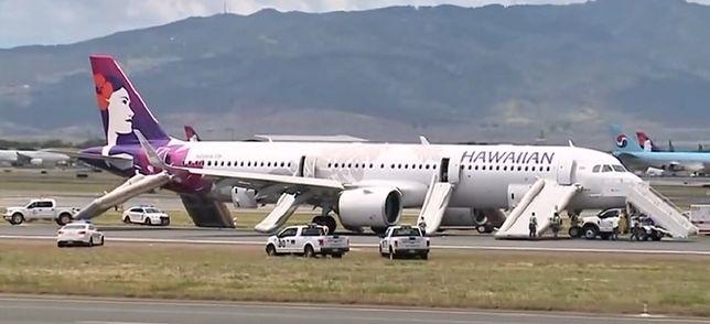 Awaryjne lądowanie Airbus A321 w Honolulu