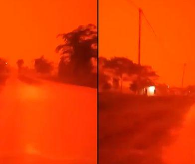 Indonezja - niebo zmieniło kolor na czerwony