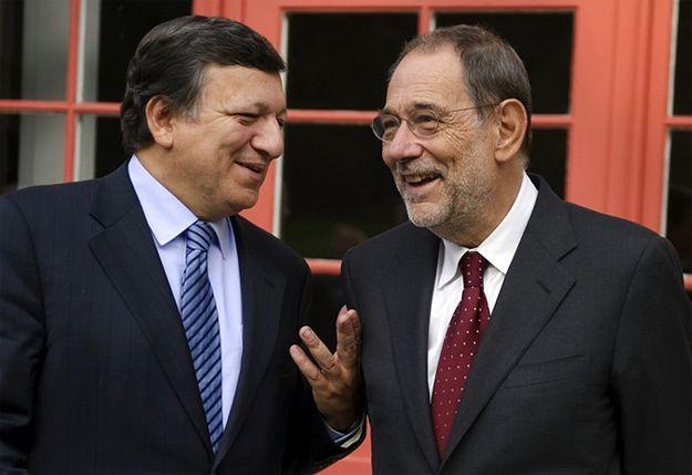 Javier Solana (z prawej) i Jose Manuel Barroso