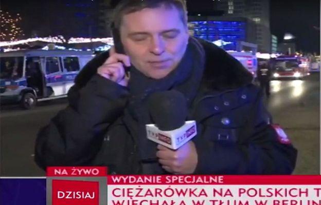 Dziwne zachowanie korespondenta TVP w Berlinie
