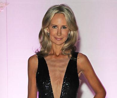 Lady Victoria Hervey na pokazie mody w Londynie