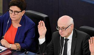 Zdzisław Krasnodębski (z prawej) i Beata Szydło w Parlamencie Europejskim