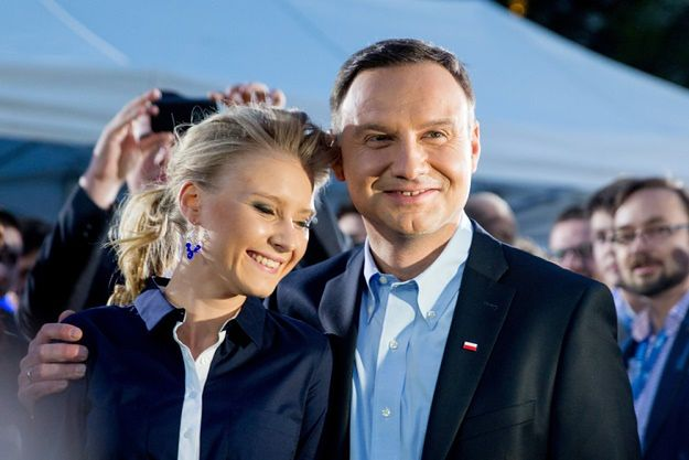 Andrzej Duda z córką Kingą