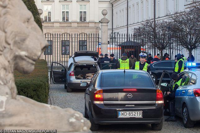 Incydent przed Pałacem Prezydenckim miał miejsce 22 stycznia