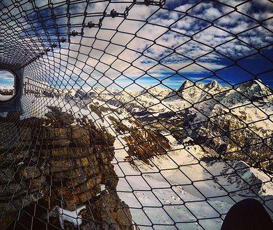"""""""Skywalk"""" znajduje się w pobliżu miejscowości Mürren, w Szwajcarii."""