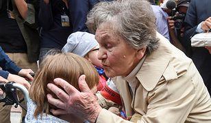 Wanda Traczyk-Stawska wspierała protest niepełnosprawnych