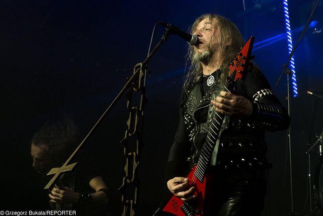 """Lider deathmetalowej grupy muzycznej Vader Piotr """"Peter"""" Paweł Wiwczarek"""