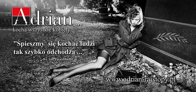 Kontrowersyjna reklama rajstop na warszawskich ulicach
