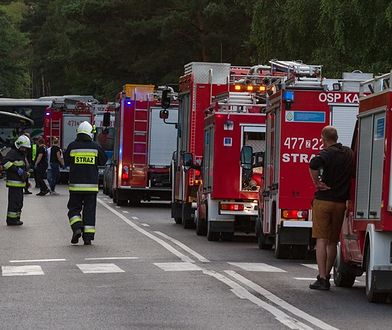 Mazury. Śmiertelny wypadek w miejscowości Kikity. Akcja straży pożarnej (zdjęcie ilustracyjne)