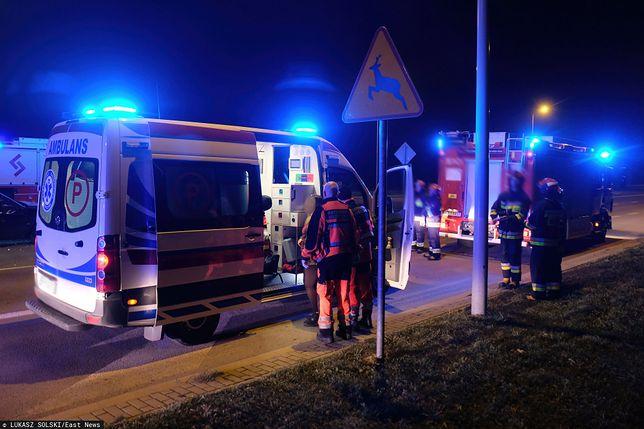 Tragiczny wypadek pod Łomżą. Zabity i ranni na DK63