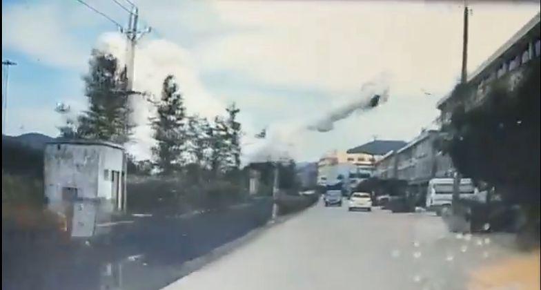 Katastrofa w Chinach. Są ofiary i dziesiątki rannych. Nagranie z miejsca zdarzenia