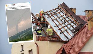 Nowy Sącz. Trąba powietrzna siała spustoszenie. Zerwane dachy, dużo zniszczeń