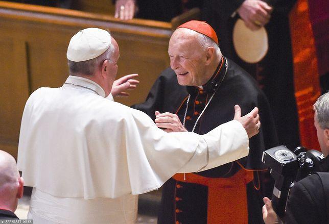 Papież Franciszek i kardynał Theodore McCarrick