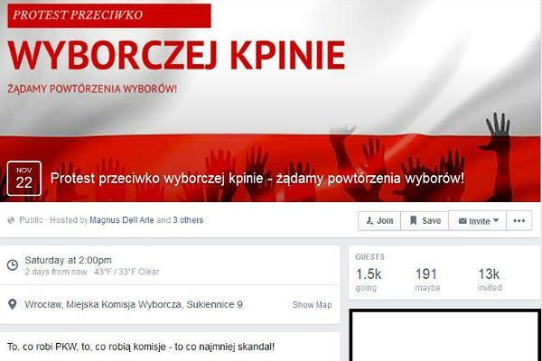 """""""Protest przeciw wyborczej kpinie"""". W sobotę wrocławska manifestacja"""