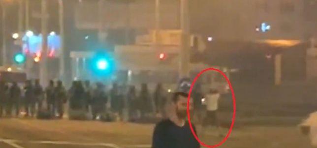 Białoruś: nagranie pokazujące śmierć demonstranta