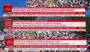 "Skargi na ""paski grozy"" TVP Info. ""Nierzetelne i stronnicze"""