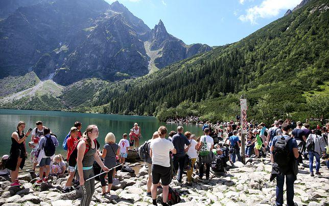 Tłumy w Tatrach. Na niektórych szlakach już tworzą się korki