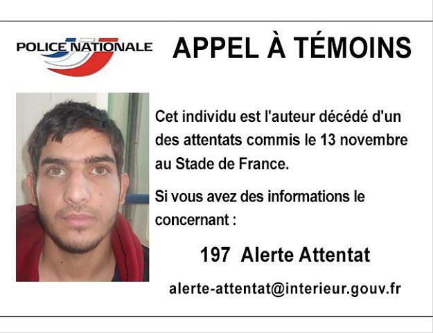 Francuska policja prosi o pomoc w zidentyfikowaniu jednego z kamikadze
