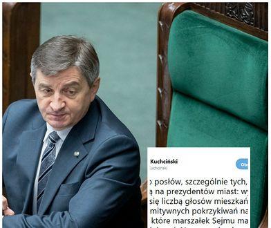 """Marek Kuchciński uważa, że kara dla Sławomira Nitrasa była """"jego obowiązkiem"""""""