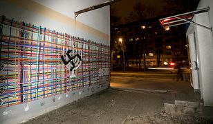 Swastyka w centrum Białegostoku