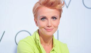 Kasia Zielińska w sukience maxi. Postawiła na oryginalną fryzurę