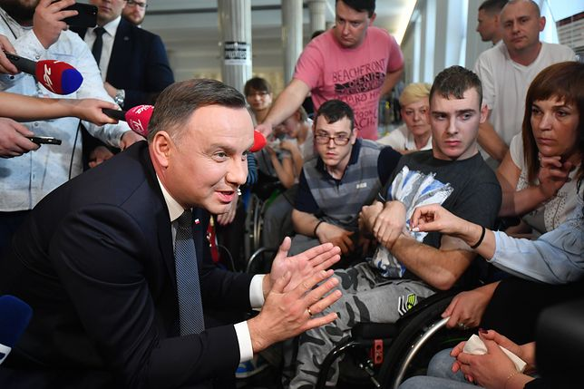 Prezydent w Sejmie. Andrzej Duda rozmawiał z protestującymi