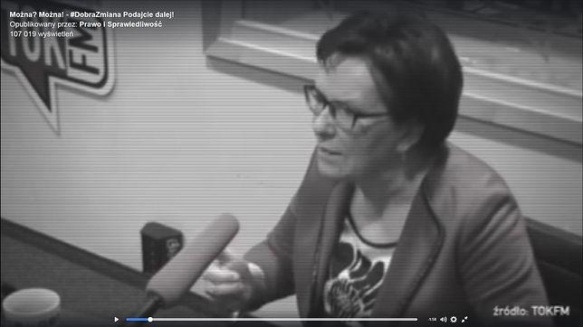 Ewa Kopacz, spot PiS-u
