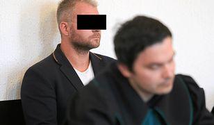 Rafał P. na sali sądowej