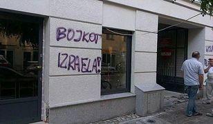 """Bojkot Izraela"". Pomazali elewację restauracji Tel Aviv"