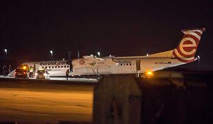 Tak wyglądało awaryjne lądowanie tego samego modelu Bombardiera w styczniu. Tym razem obyło się bez dramatycznych scen
