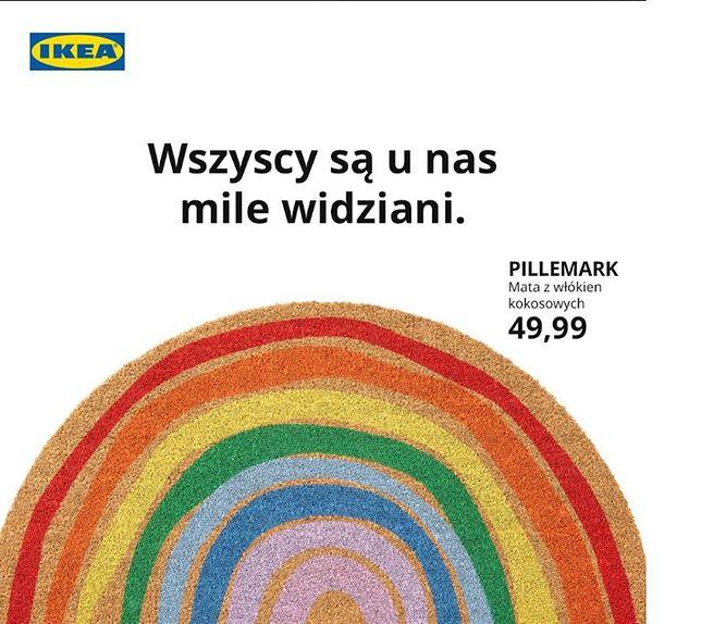Ikea włącza się do walki o prawa osób LGBT+ poprzez tęczową wycieraczkę do butów
