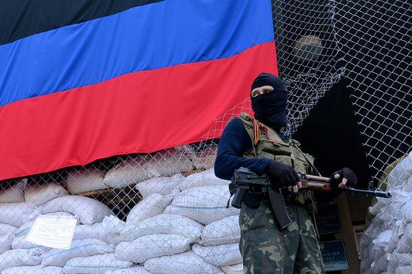 Członek sił separatystów w Słowiańsku