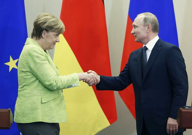 Angela Merkel i Władimir Putin w Soczi