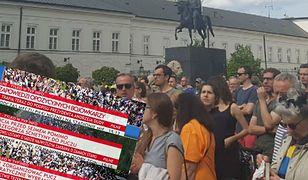 Oto, jak TVP przedstawia demonstrację przed Sejmem. Kontrowersyjne napisy na paskach