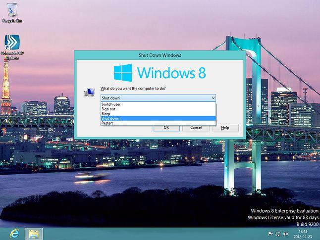 alt+f4 działa w Desktop