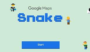 """""""Snake, czyli """"Wąż"""", na 1 kwietnia (Prima Aprilis) w Google Maps"""