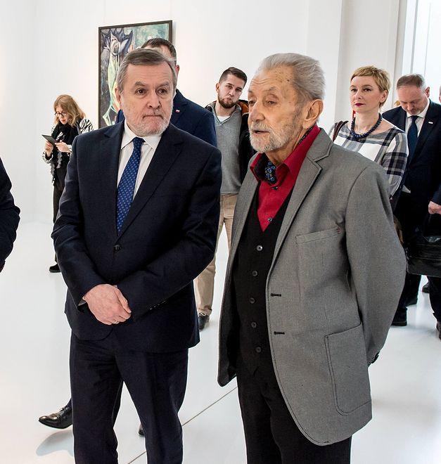 Na zdjęciu (od prawej): Piotr Gliński i Mariusz Hermansdorfer