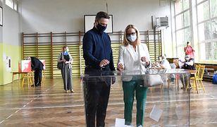 Wybory 2020. Rafał Trzaskowski i Małgorzata Trzaskowska głosują w Rybniku
