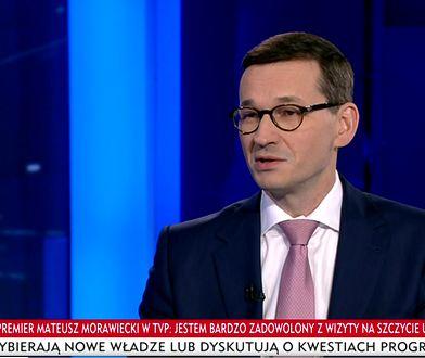 Premier Mateusz Morawiecki udzielił wywiadu TVPInfo