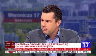 Michał Rachoń usłyszał od posłanki PO, że rzecznicy PiS nie powinni prowadzić programów w TVP.