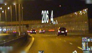 21-latek gnał ponad 206 km/h po trasie S2!